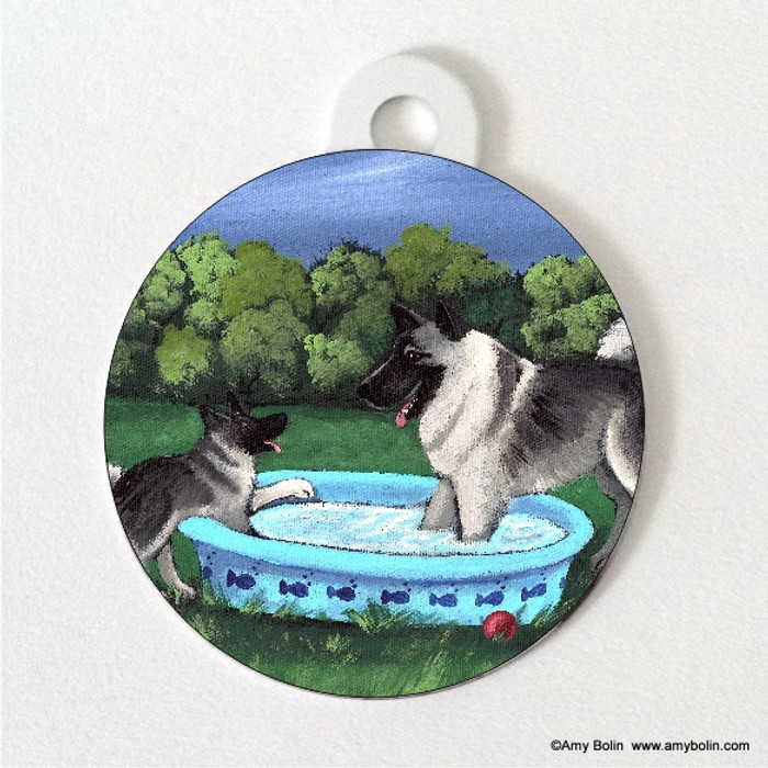 DOUBLE SIDED PET ID TAG · SUMMER'S SIMPLE PLEASURES · NORWEGIAN ELKHOUND · AMY BOLIN