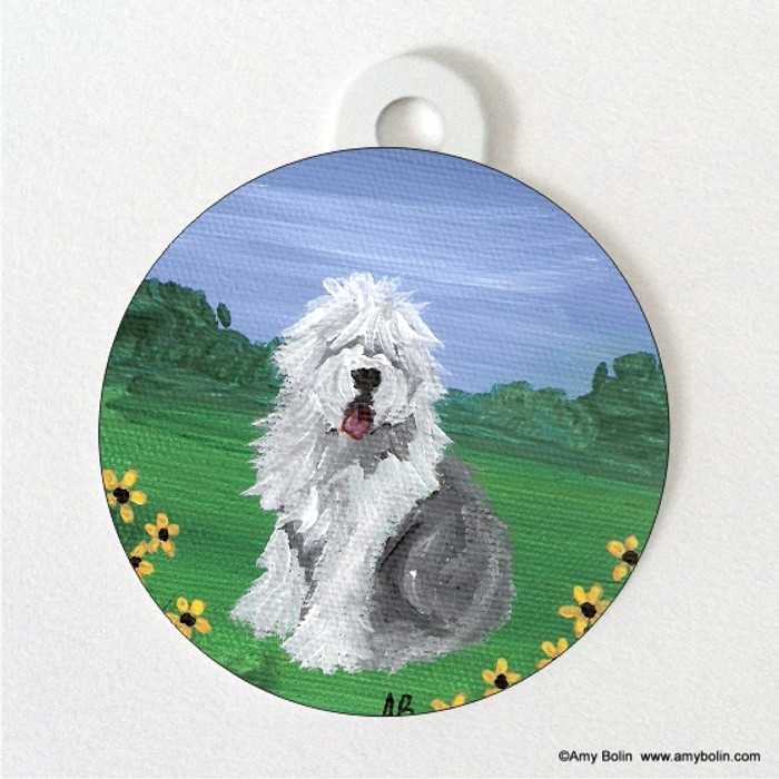 DOUBLE SIDED PET ID TAG · SUMMER OES  · OLD ENGLISH SHEEPDOG · AMY BOLIN