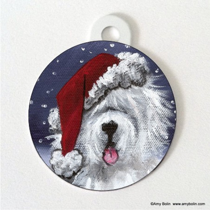 DOUBLE SIDED PET ID TAG · SHAGGY CLAWS  · OLD ENGLISH SHEEPDOG · AMY BOLIN