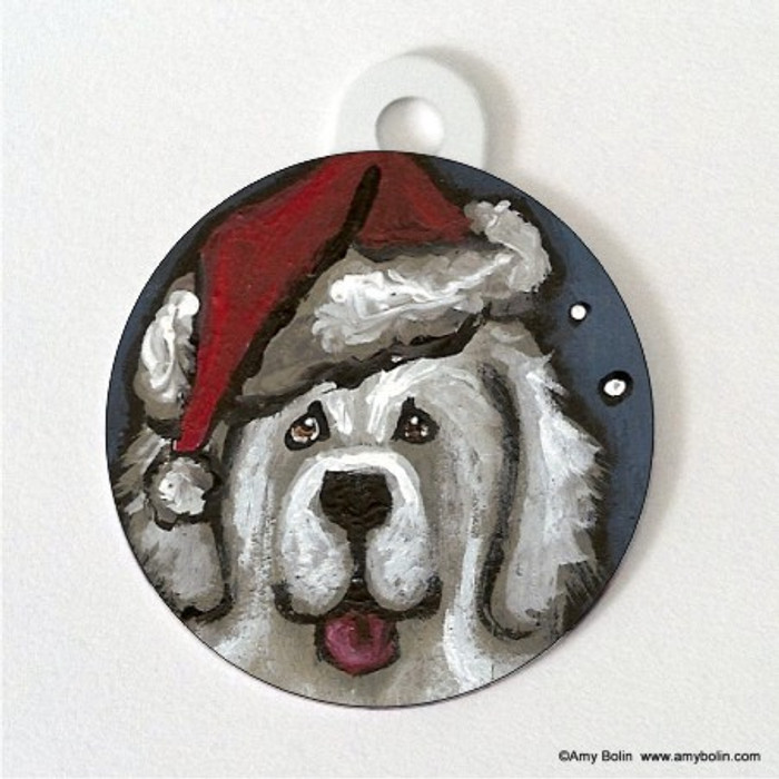 DOUBLE SIDED PET ID TAG · SHAGGY CLAWS · GREAT PYRENEES · AMY BOLIN