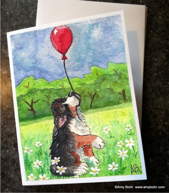 NOTE CARDS · FLY AWAY · BERNESE MOUNTAIN DOG · AMY BOLIN