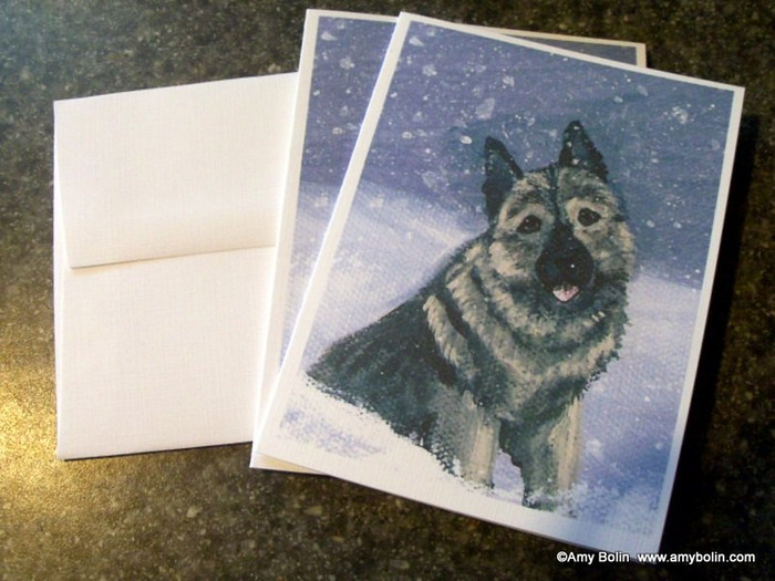 NOTE CARDS · NORWEGIAN ELKHOUND 1 · NORWEGIAN ELKHOUND · AMY BOLIN