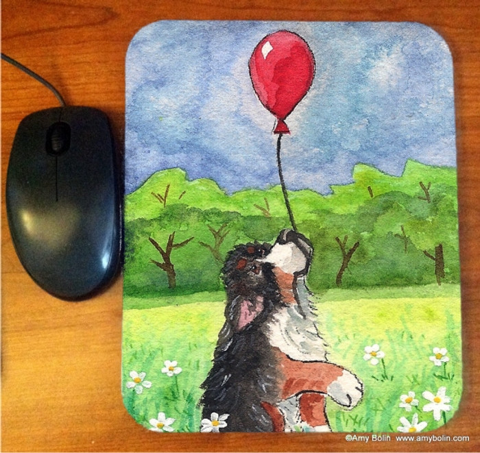 MOUSE PAD · FLY AWAY · BERNESE MOUNTAIN DOG · AMY BOLIN