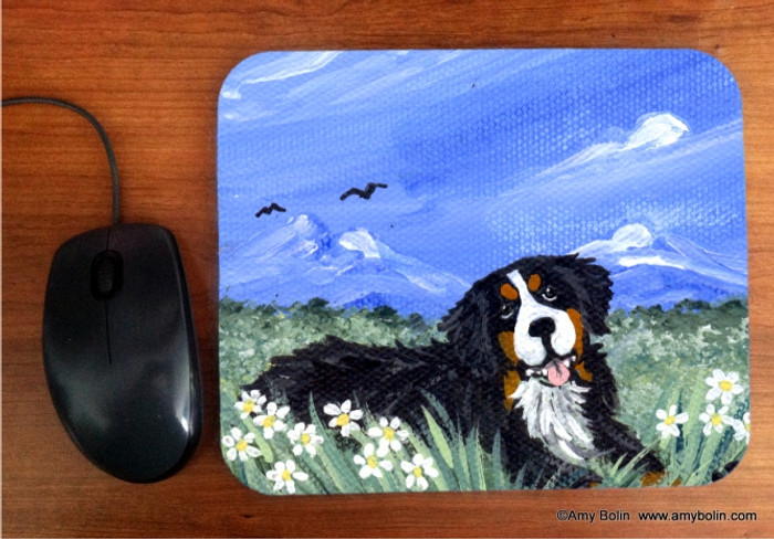 MOUSE PAD · MOUNTAIN HOME · BERNESE MOUNTAIN DOG  · AMY BOLIN