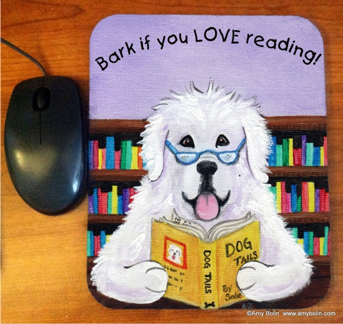 MOUSE PAD · DOG TAILS VOL 2 · GREAT PYRENEES   · AMY BOLIN