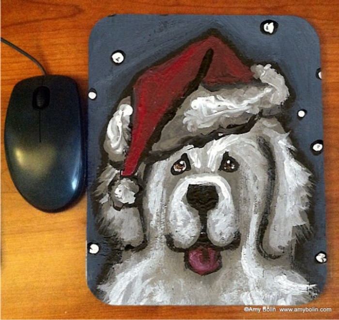 MOUSE PAD · SHAGGY CLAWS · GREAT PYRENEES · AMY BOLIN