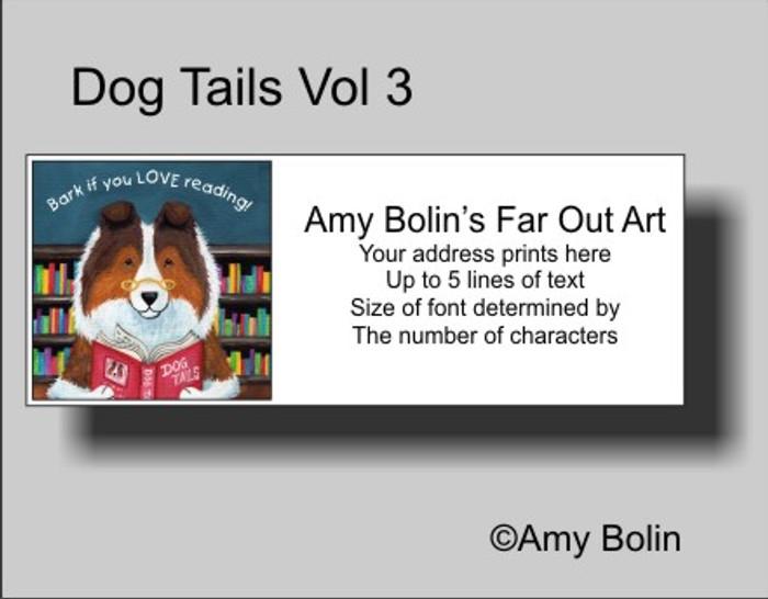 ADDRESS LABELS · DOG TAILS VOL 3 · SABLE SHELTIE · AMY BOLIN