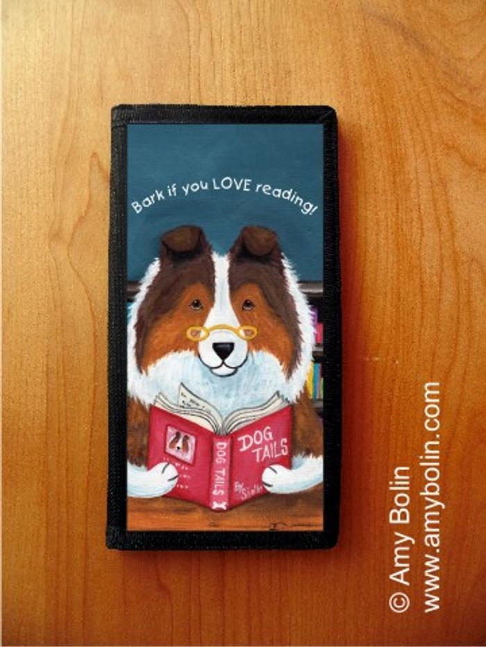 CHECKBOOK COVER · DOG TAILS VOL 3 · SABLE SHELTIE · AMY BOLIN