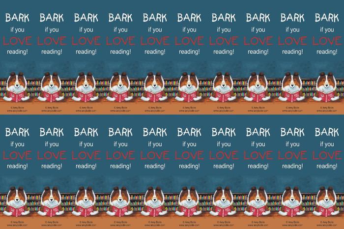 "FELT BOOKMARKS · DOG TAILS VOL 3 ""BARK IF YOU LOVE READING"" · SABLE SHELTIE · AMY BOLIN"