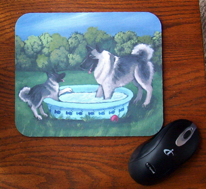 MOUSE PAD · SUMMER'S SIMPLE PLEASURES · NORWEGIAN ELKHOUND · AMY BOLIN