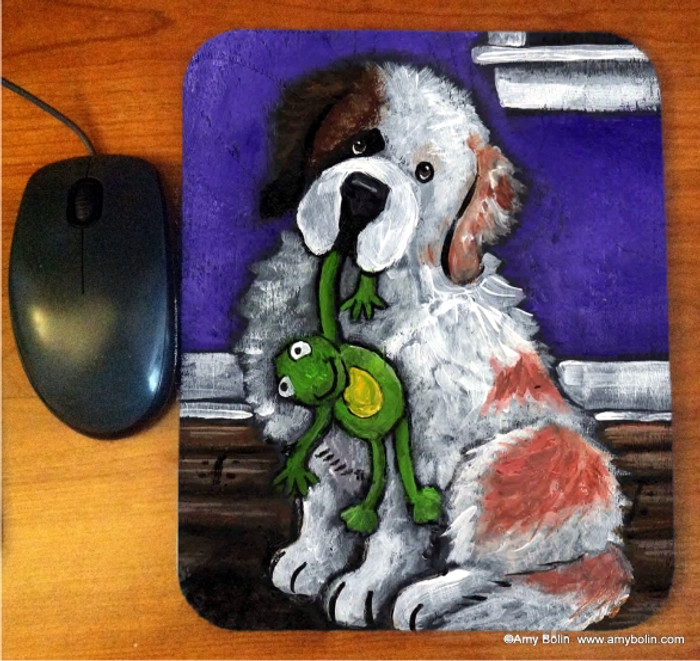 MOUSE PAD · BEDTIME BUDDIES HALF MASK · SAINT BERNARD · AMY BOLIN