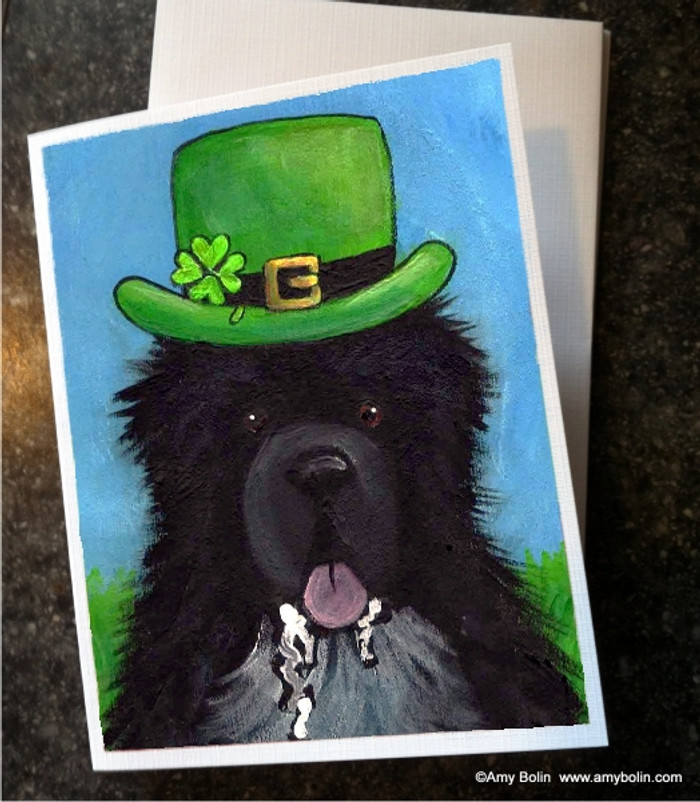 NOTE CARDS · A BIG, WET IRISH KISS · IRISH SPOTTED NEWFOUNDLAND · AMY BOLIN