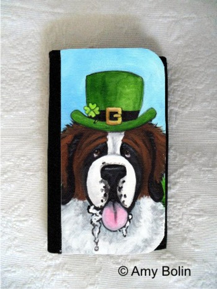 LARGE ORGANIZER WALLET · A BIG, WET IRISH KISS · SAINT BERNARD · AMY BOLIN