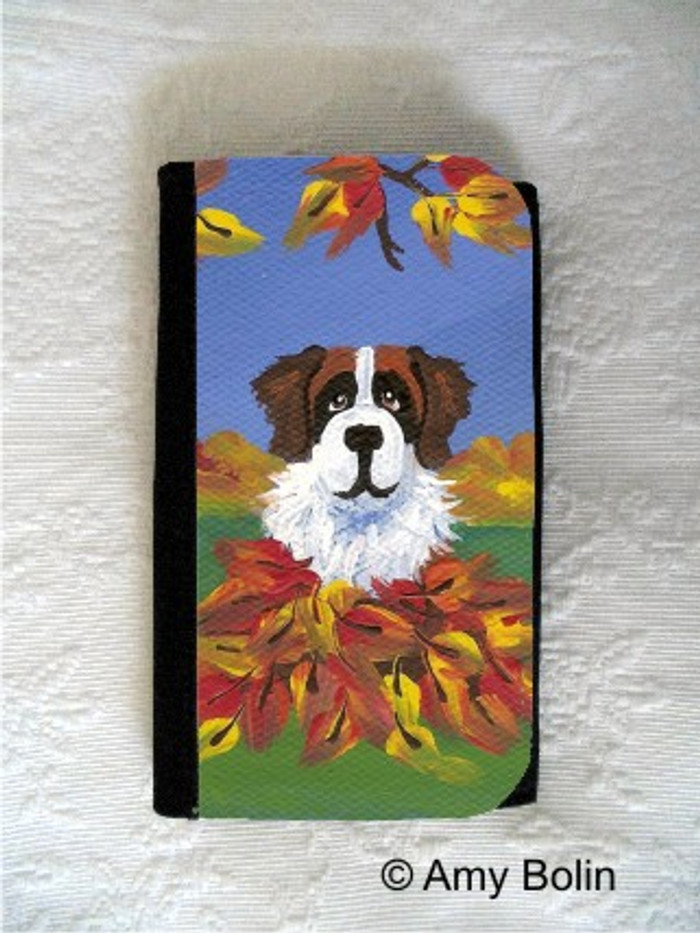 LARGE ORGANIZER WALLET · AUTUMN'S SIMPLE PLEASURES 3 · SAINT BERNARD · AMY BOLIN