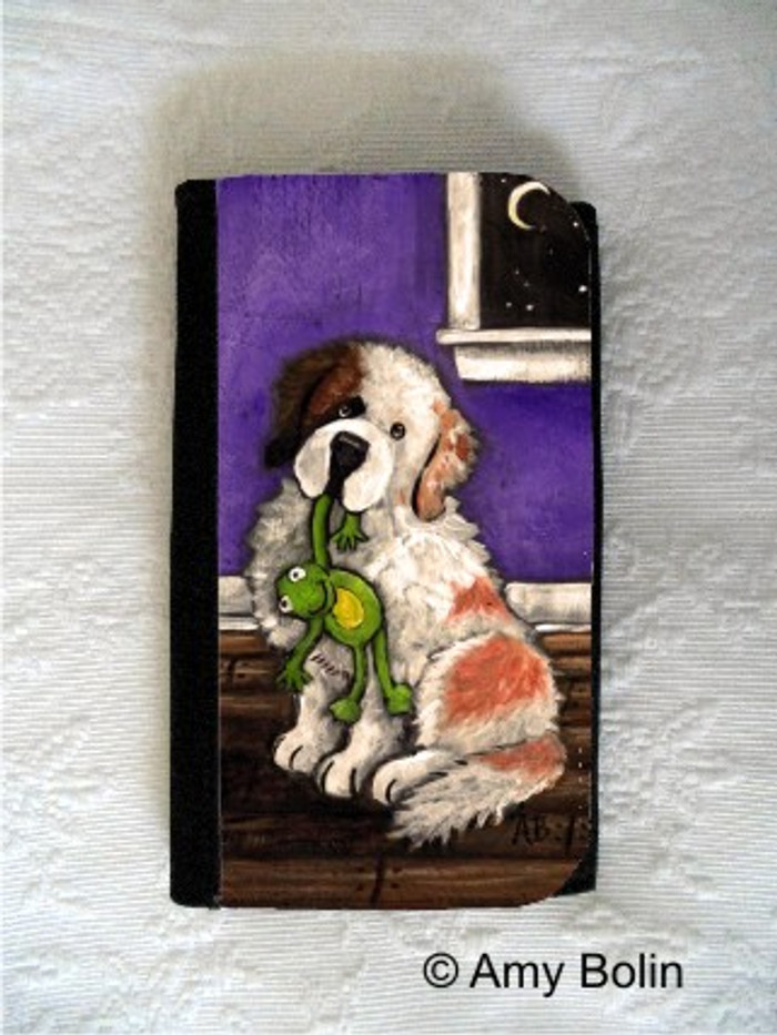 LARGE ORGANIZER WALLET · BEDTIME BUDDIES HALF MASK · SAINT BERNARD · AMY BOLIN