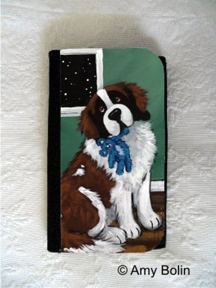 LARGE ORGANIZER WALLET · BEDTIME BUDDIES · SAINT BERNARD · AMY BOLIN
