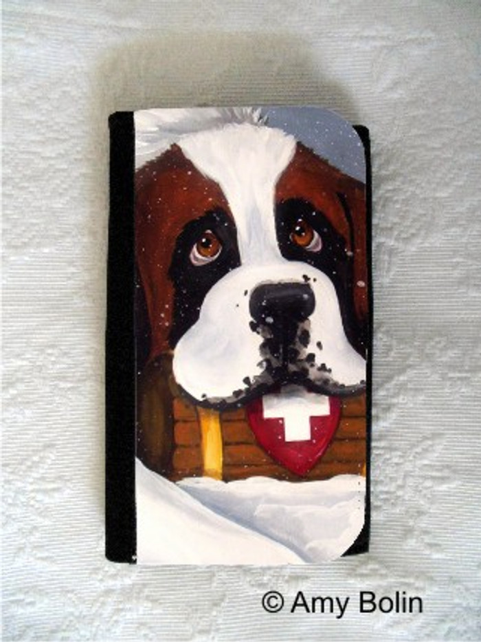 LARGE ORGANIZER WALLET · BREAK TIME · SAINT BERNARD · AMY BOLIN