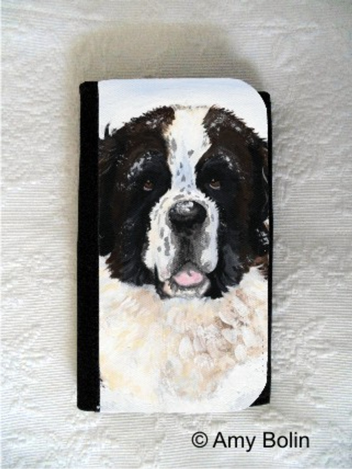 LARGE ORGANIZER WALLET · CHARLIE'S SNOW DAY · SAINT BERNARD · AMY BOLIN