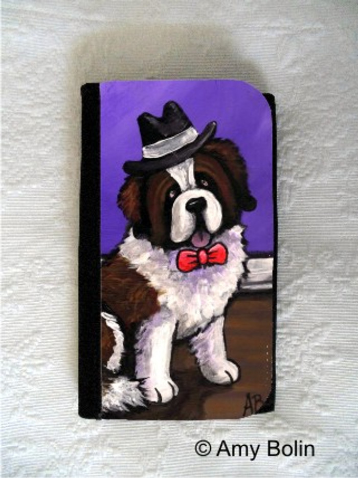 LARGE ORGANIZER WALLET · DAPPER DOG · SAINT BERNARD · AMY BOLIN