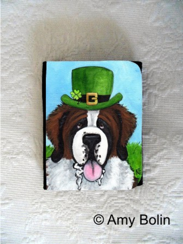SMALL ORGANIZER WALLET · A BIG, WET IRISH KISS · SAINT BERNARD · AMY BOLIN