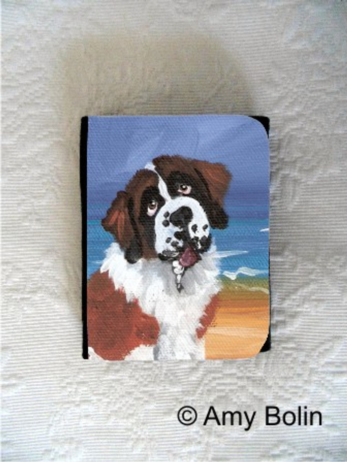 SMALL ORGANIZER WALLET · A DAY AT THE BEACH · SAINT BERNARD · AMY BOLIN
