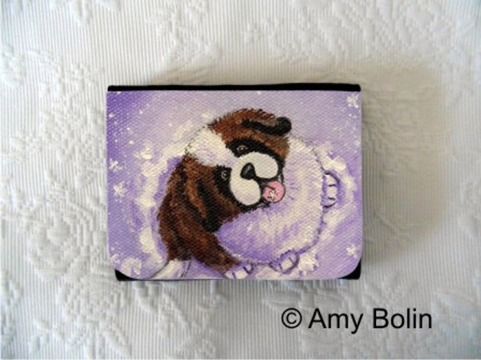 SMALL ORGANIZER WALLET · A TASTE OF WINTER · SAINT BERNARD · AMY BOLIN