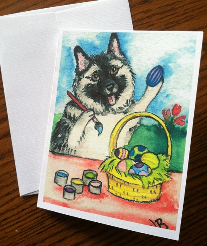NOTE CARDS · EASTER EGG ARTIST · NORWEGIAN ELKHOUND · AMY BOLIN