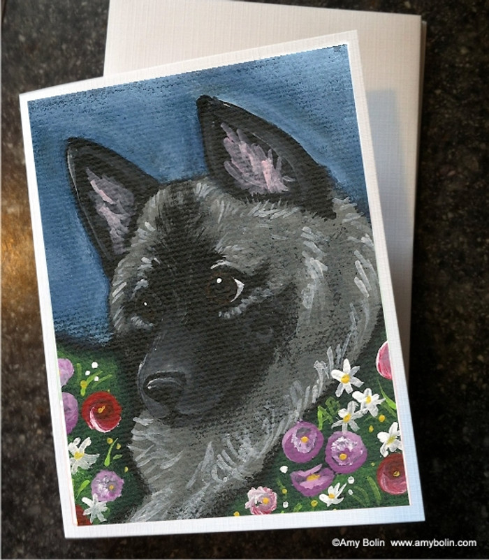 NOTE CARDS · MOM'S FAVORITE DAISY · NORWEGIAN ELKHOUND · AMY BOLIN