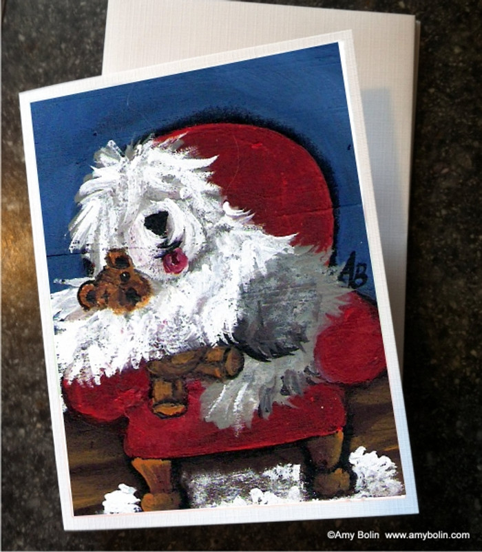 NOTE CARDS · JUST ME & TED · OLD ENGLISH SHEEPDOG · AMY BOLIN
