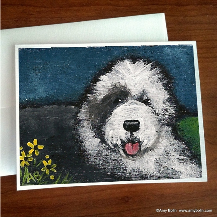 NOTE CARDS · TOBY · OLD ENGLISH SHEEPDOG · AMY BOLIN