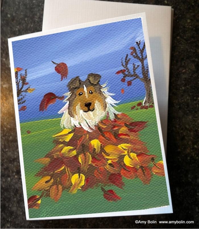 NOTE CARDS · AUTUMN'S SIMPLE PLEASURES · SABLE SHELTIE · AMY BOLIN