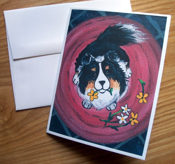 NOTE CARDS · BE MINE · TRI COLOR SHELTIE · AMY BOLIN