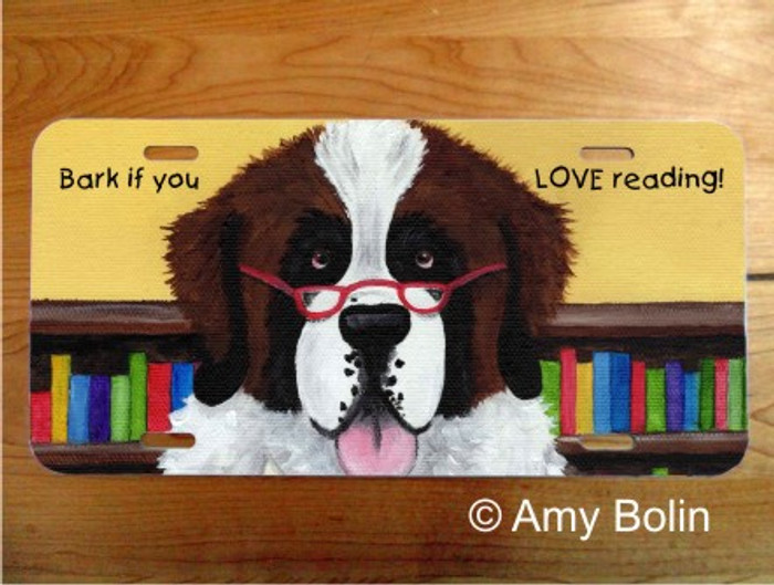 LICENSE PLATE · DOG TAILS ·  SAINT BERNARD · AMY BOLIN