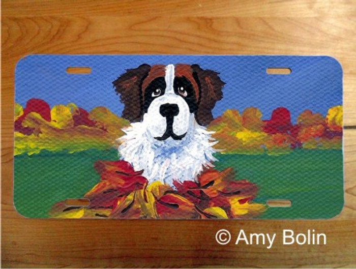 LICENSE PLATE · AUTUMN'S SIMPLE PLEASURES 3 · SAINT BERNARD · AMY BOLIN