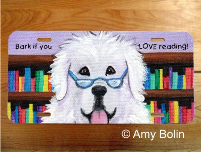 LICENSE PLATE · DOG TAILS VOL 2 · GREAT PYRENEES · AMY BOLIN
