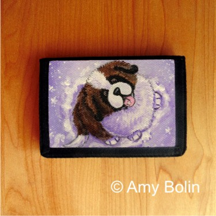 TRIFOLD WALLET · A TASTE OF WINTER ·  SAINT BERNARD · AMY BOLIN