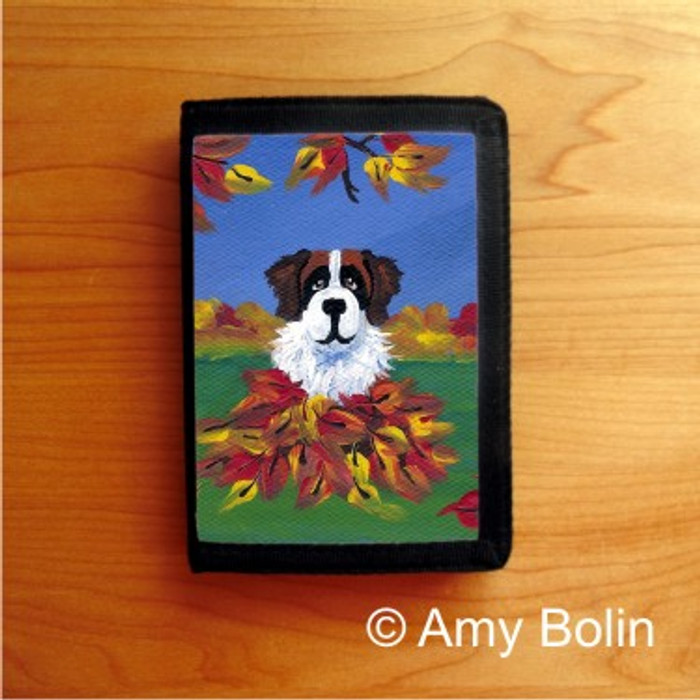 TRIFOLD WALLET · AUTUMN'S SIMPLE PLEASURES 3 · SAINT BERNARD · AMY BOLIN