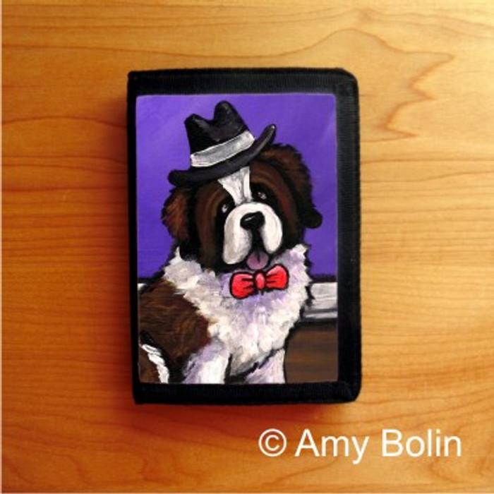TRIFOLD WALLET · DAPPER DOG   ·  SAINT BERNARD · AMY BOLIN