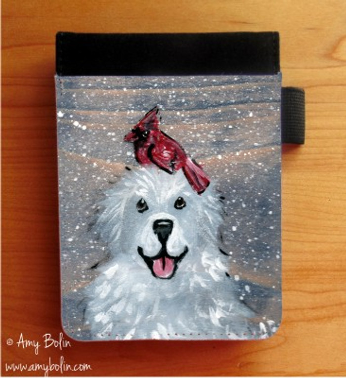 NOTEBOOKS (SEVERAL SIZES AVAILABLE) · WINTER BUDDIES · GREAT PYRENEES & CARDINAL · AMY BOLIN