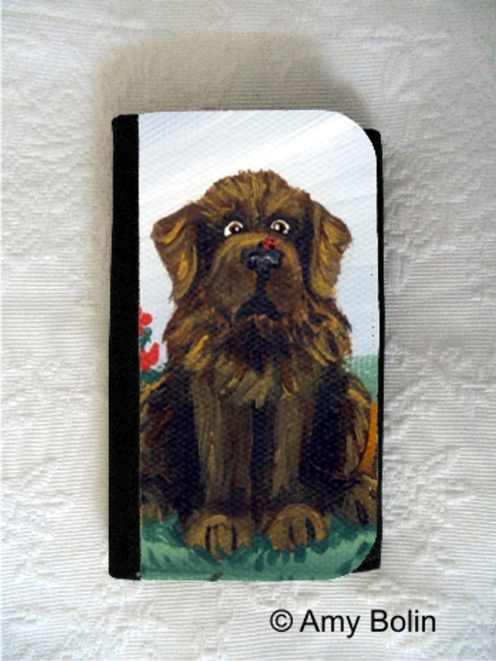 LARGE ORGANIZER WALLET · A LITTLE VISITOR    · BROWN NEWFOUNDLAND · AMY BOLIN