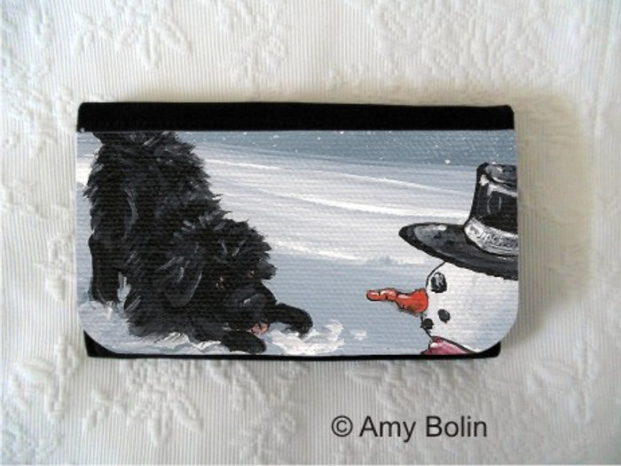 LARGE ORGANIZER WALLET · MY SNOWY FRIEND · BLACK NEWFOUNDLAND · AMY BOLIN