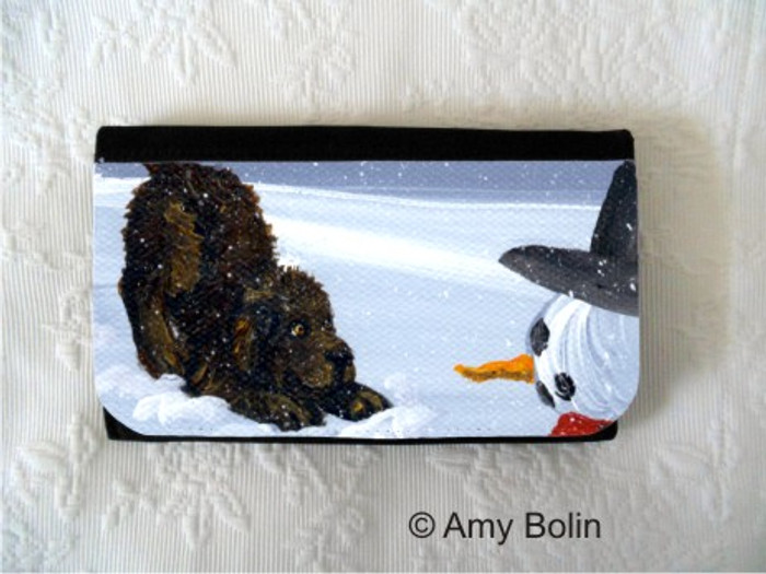LARGE ORGANIZER WALLET · MY SNOWY FRIEND · BROWN NEWFOUNDLAND · AMY BOLIN