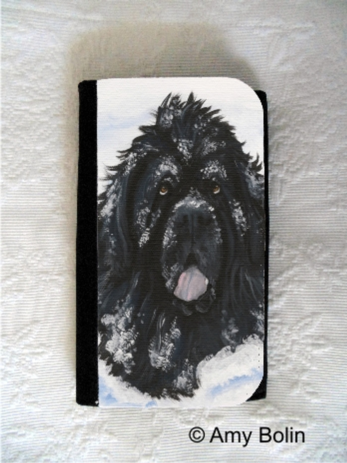 LARGE ORGANIZER WALLET · SCARLETS SNOW DAY · BLACK NEWFOUNDLAND · AMY BOLIN