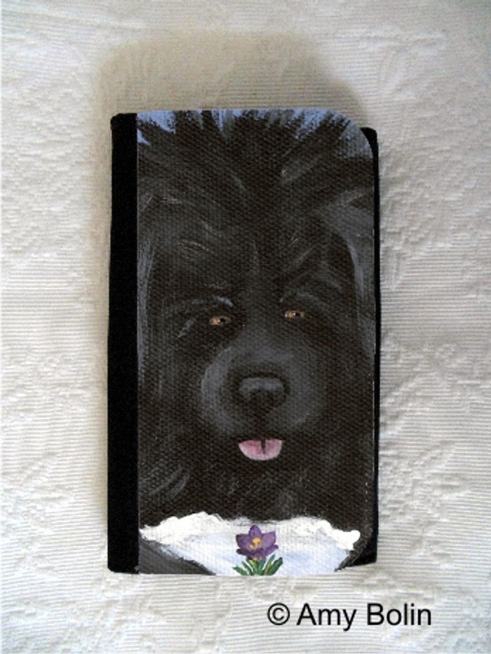 LARGE ORGANIZER WALLET · SPRING IS IN THE AIR  · BLACK NEWFOUNDLAND · AMY BOLIN