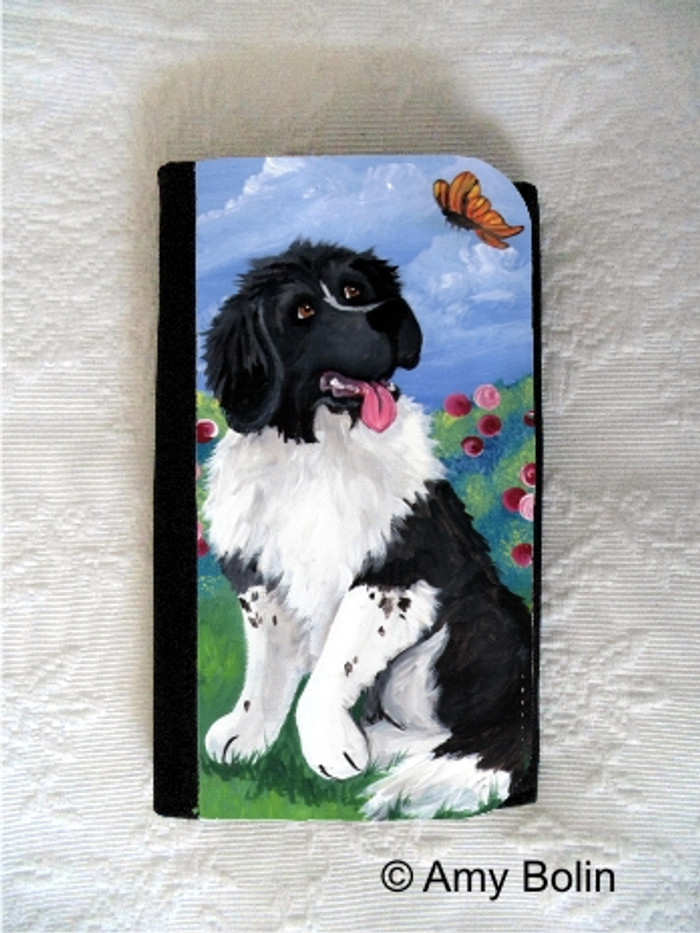 LARGE ORGANIZER WALLET · SPRING SIMPLE PLEASURES  · LANDSEER NEWFOUNDLAND · AMY BOLIN