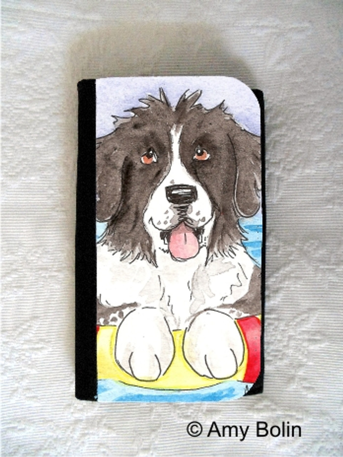 LARGE ORGANIZER WALLET · SUMMER FUN ·  LANDSEER NEWFOUNDLAND · AMY BOLIN