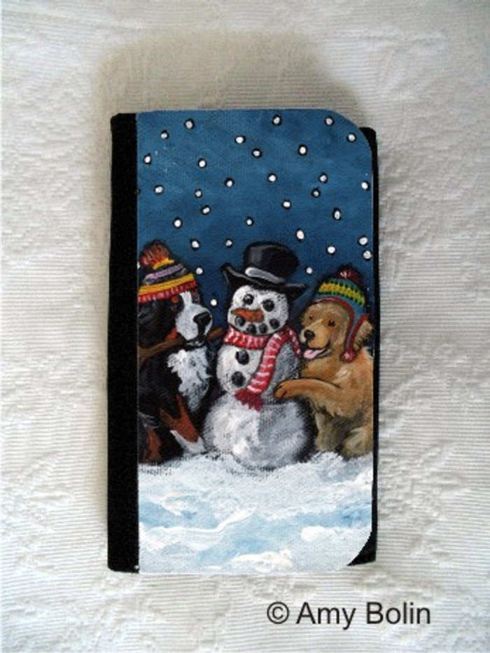 LARGE ORGANIZER WALLET · FRIENDS OF SNOW NEED LOVE TO GROW  · BERNESE MOUNTAIN DOG, GOLDEN RETRIEVER · AMY BOLIN