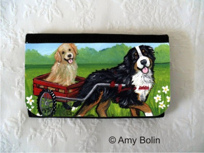 LARGE ORGANIZER WALLET · TRAVELING BUDDIES  · BERNESE MOUNTAIN DOG, GOLDEN RETRIEVER · AMY BOLIN