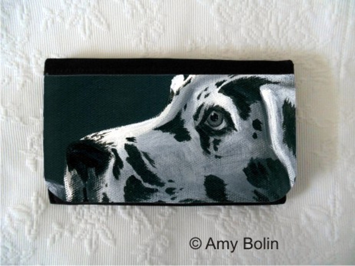 LARGE ORGANIZER WALLET · HARLEQUIN DANE · GREAT DANE · AMY BOLIN