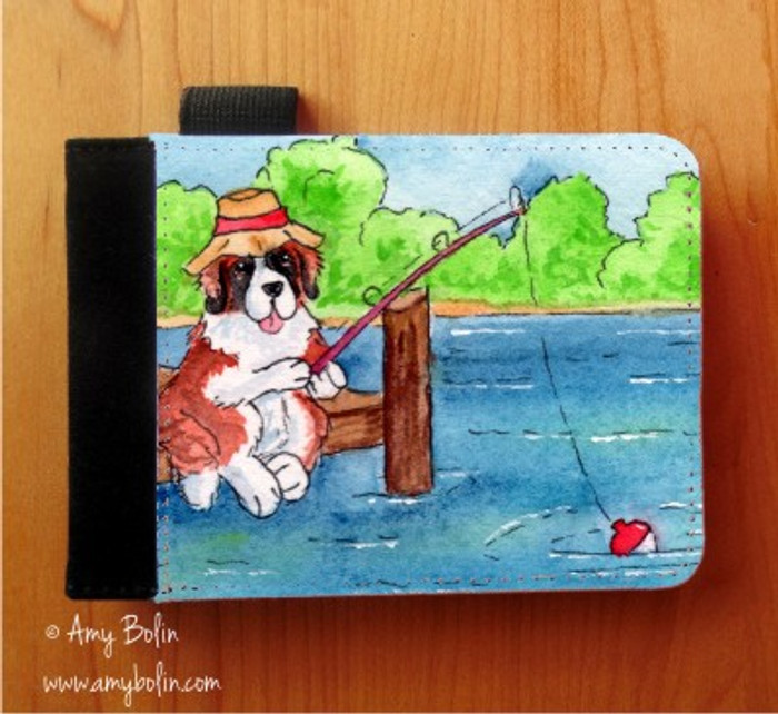NOTEBOOKS (SEVERAL SIZES AVAILABLE) · GONE FISHING · SAINT BERNARD · AMY BOLIN